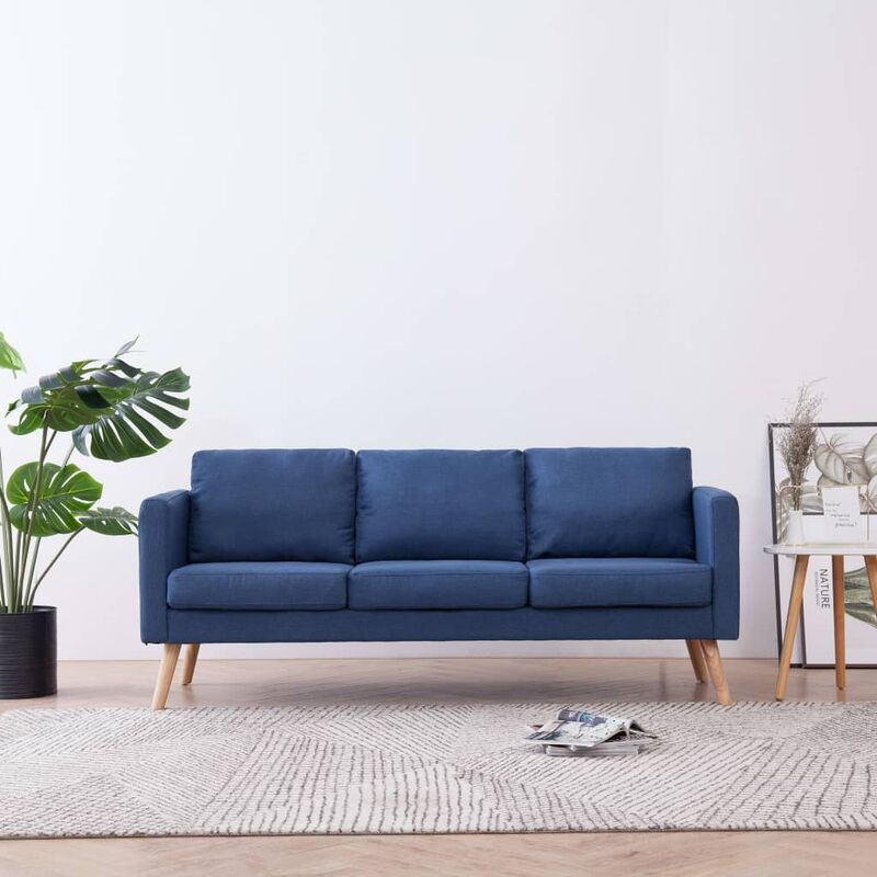 3-Sitzer-Sofa Stoff Blau 22955 - Topdeal