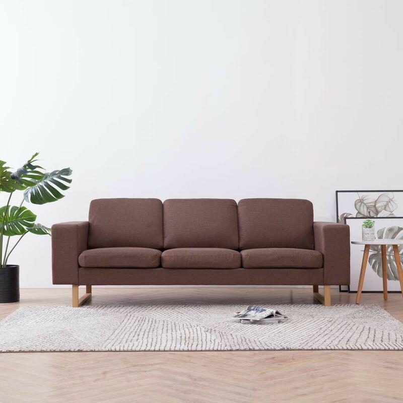 3-Sitzer-Sofa Stoff Braun 22983 - Topdeal