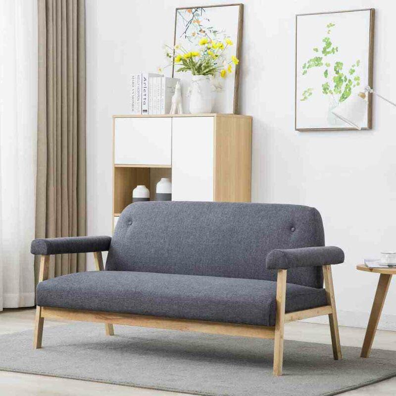 3-Sitzer-Sofa Stoff Dunkelgrau 12573 - Topdeal