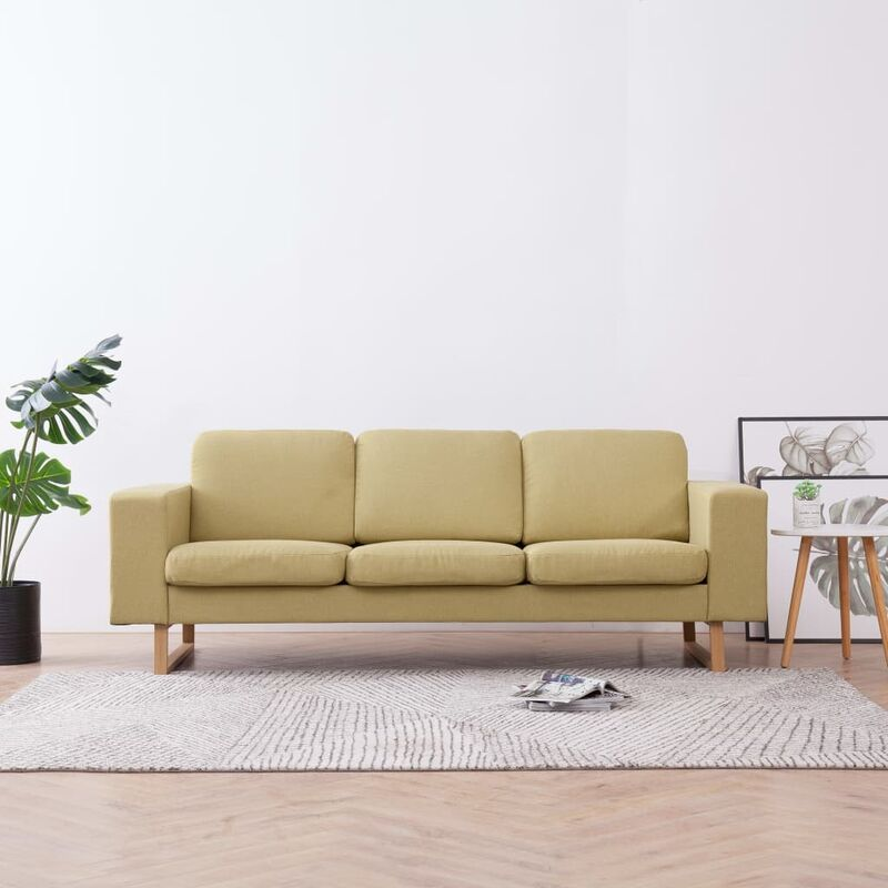 3-Sitzer-Sofa Stoff Grün 22987 - Topdeal