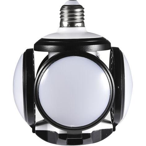 Topdeal 8 Piece LED Garage Lighting Soccer Shape Energy Saving Workshop Lighting 4800LM 60W Deformable Garage Light LEDZQ0000101X8
