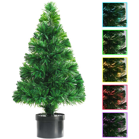 Topdeal Artificial Christmas Tree Fibre Optic 64 cm Green VDTD12333