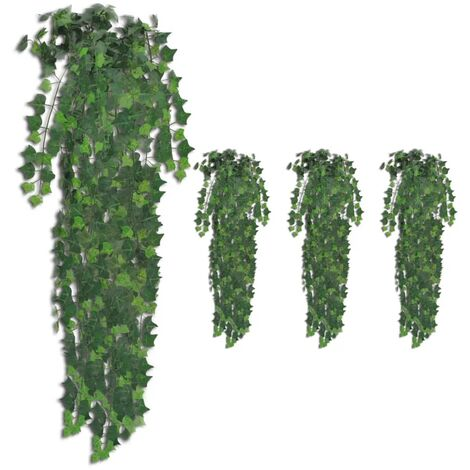Topdeal Artificial Ivy Bushes 4 pcs Green 90 cm VDTD38939