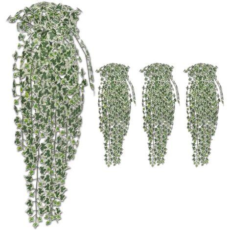Topdeal Artificial Ivy Bushes 4 pcs Variegated 90 cm VDTD38940