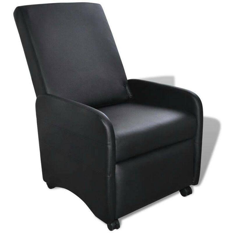 Ausklappbarer Sessel Schwarz Kunstleder 08912 - Topdeal