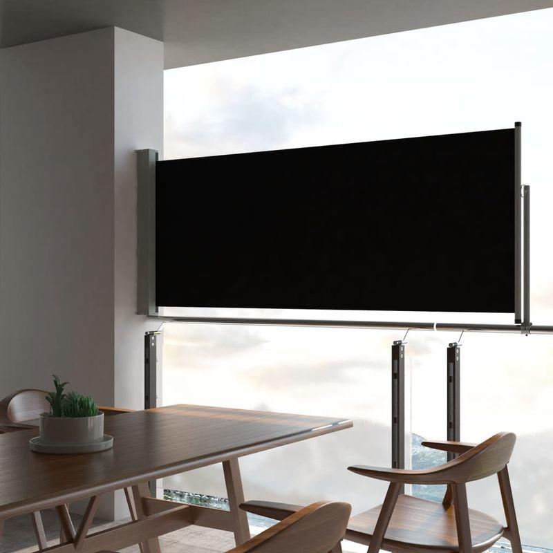 VDTD29336_FR Auvent latéral rétractable de patio 100 x 300 cm Noir - Topdeal