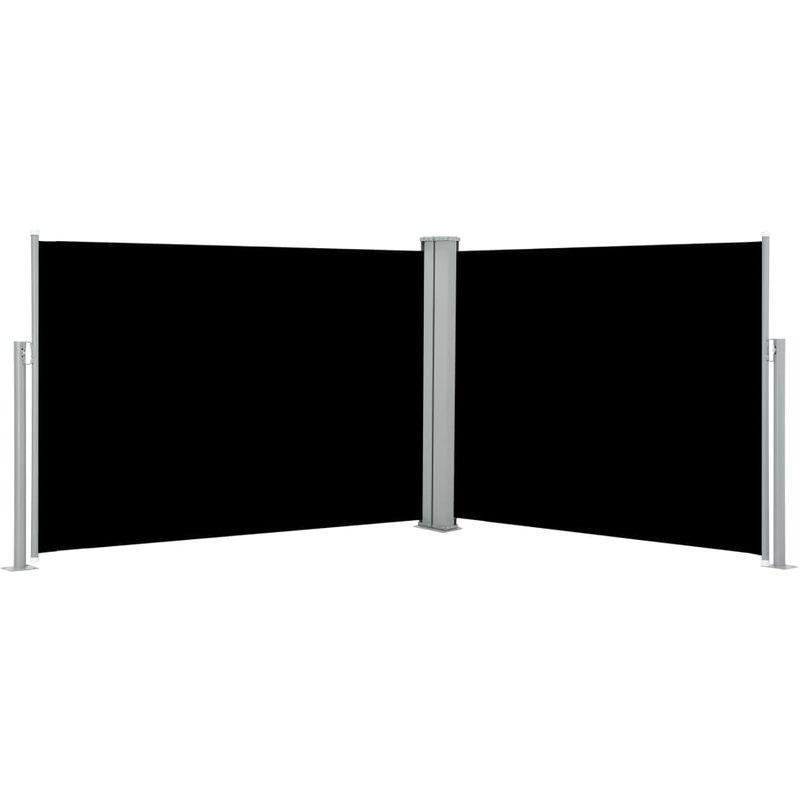 VDTD46513_FR Auvent latéral rétractable Noir 100 x 1000 cm - Topdeal