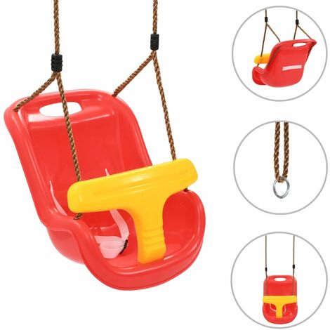 Topdeal Baby Swing with Safety Belt PP Red VDTD32751
