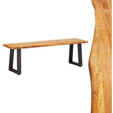 Topdeal Bench 140 cm Natural Solid Oak Wood VDTD24891