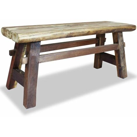 Topdeal Bench Solid Reclaimed Wood 100x28x43 cm VDTD10600