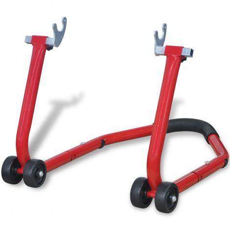 Topdeal Béquille arrière de moto Rouge