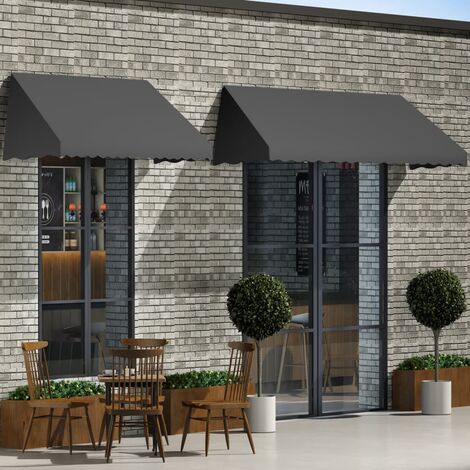 Topdeal Bistro Awning 350x120 cm Anthracite VDTD05631