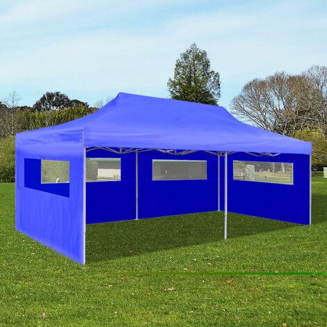 Topdeal Blue Foldable Pop-up Party Tent 3 x 6 m VDTD26593