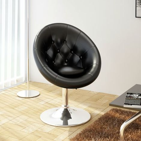 Topdeal Chaise de bar Noir Similicuir