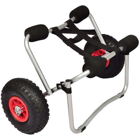 Topdeal Chariot pour kayak Aluminium
