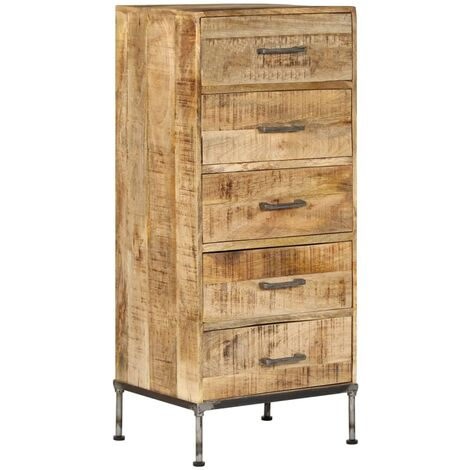 Topdeal Chest of Drawers 45x35x106 cm Solid Mango Wood VDTD13658