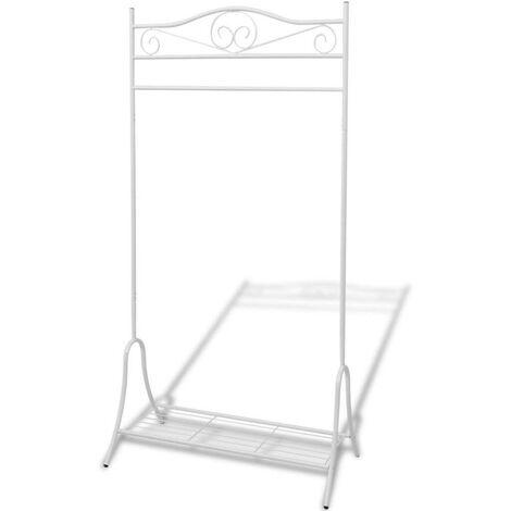 Topdeal Clothing Rack White Steel VDTD09582