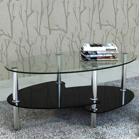 Topdeal Coffee Table with Exclusive Design Black VDTD08238