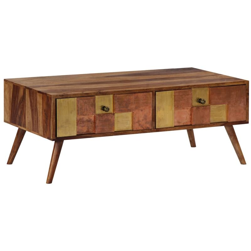Topdeal Couchtisch 100 x 50 x 39 cm Massivholz 13810
