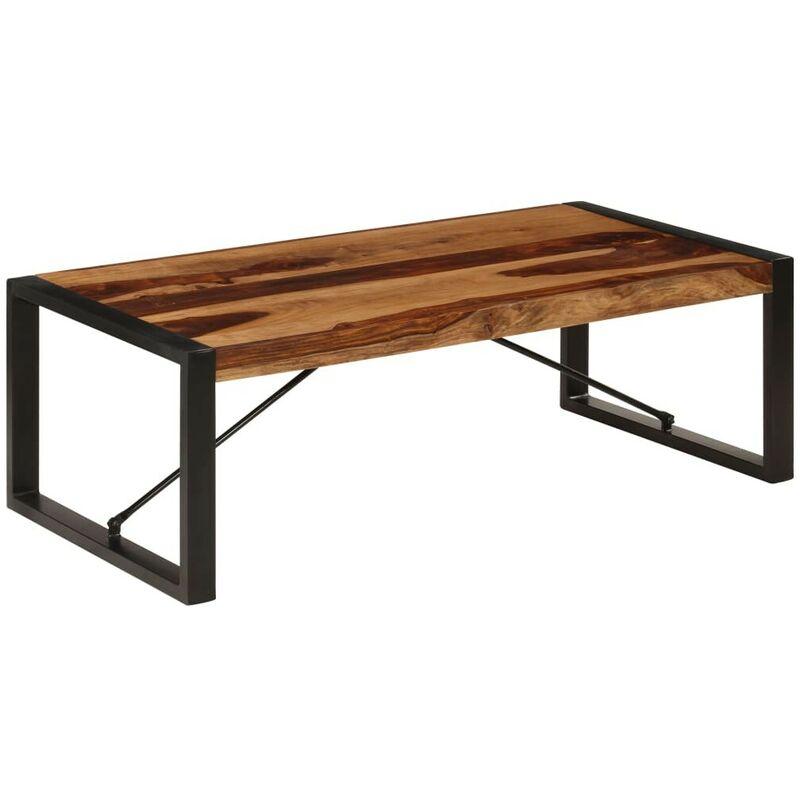 Topdeal Couchtisch 120 x 60 x 40 cm Massivholz 13310