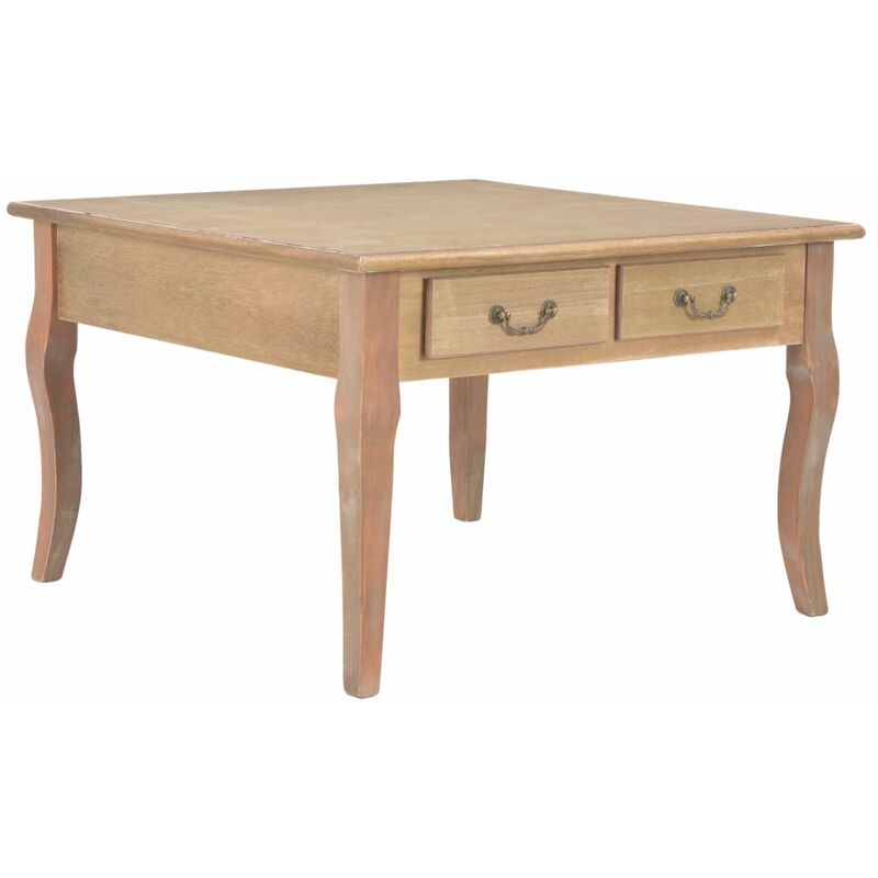 Couchtisch Braun 80 x 80 x 50 cm Holz 22217 - Topdeal