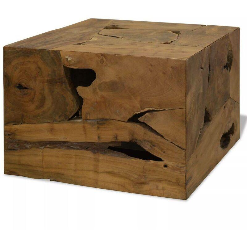 Topdeal Couchtisch Echtholz 50 x 50 x 35 Braun 10650