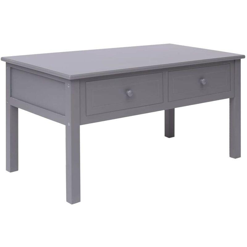 Topdeal Couchtisch Grau 100 x 50 x 45 cm Holz 24677