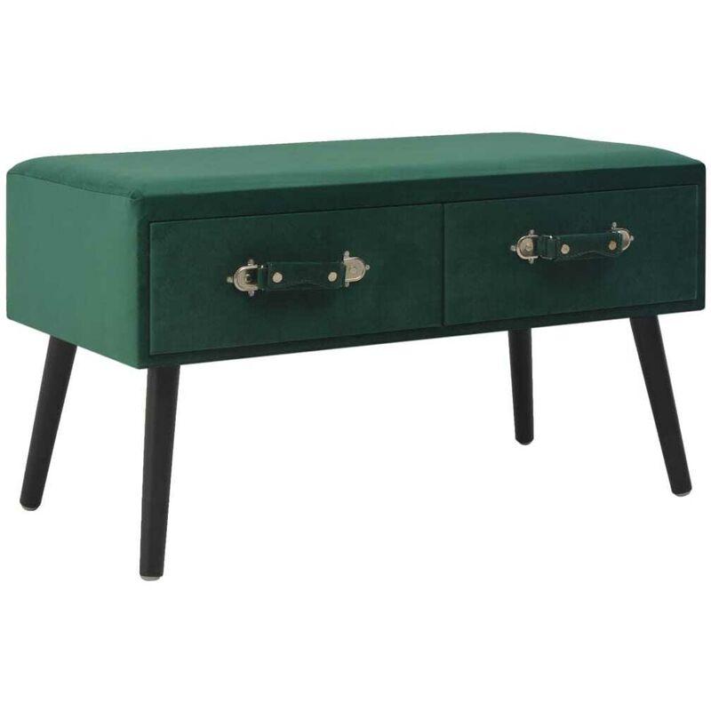 Couchtisch Grün 80 x 40 x 46 cm Samt 13402 - Topdeal