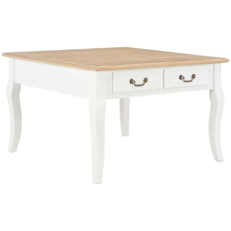 Topdeal Couchtisch Weiß 80 x 80 x 50 cm Holz 22214