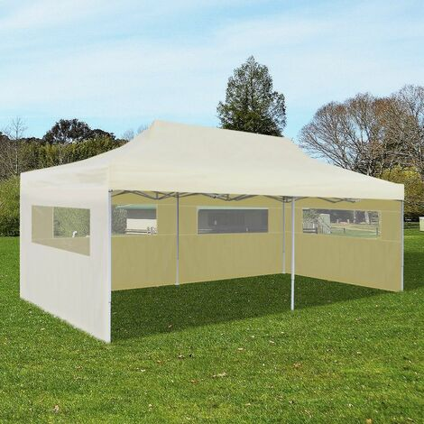 Topdeal Cream Foldable Pop-up Party Tent 3 x 6 m VDTD26592