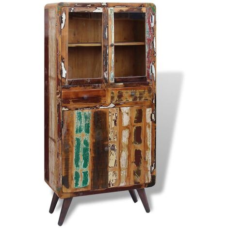 Topdeal Cupboard Solid Reclaimed Wood 90x40x190 cm VDTD09752