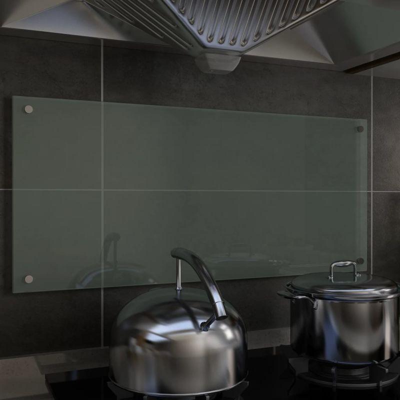 Dosseret de cuisine Blanc 90 x 40 cm Verre trempé - Topdeal