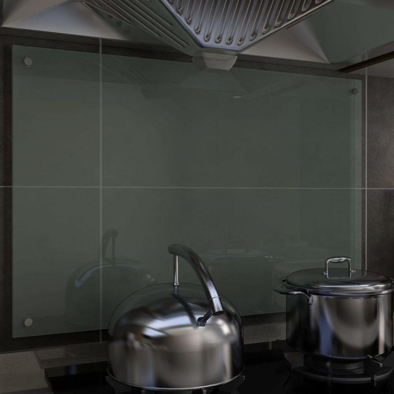 Dosseret de cuisine Blanc 90 x 60 cm Verre trempé - Topdeal
