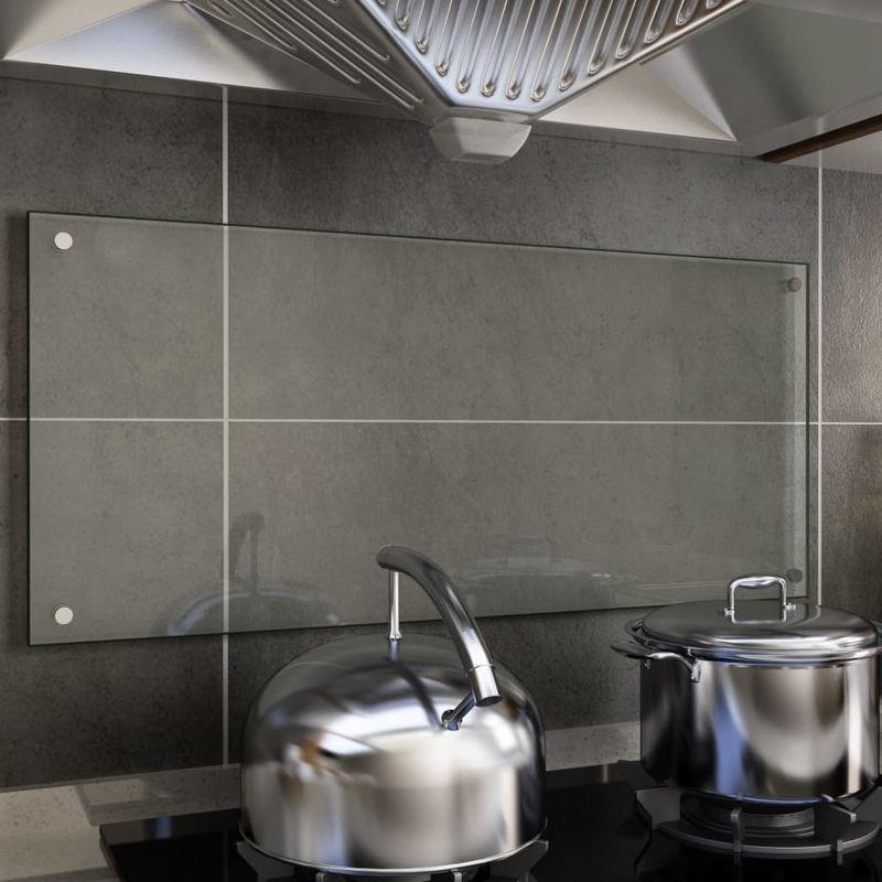 Dosseret de cuisine Transparent 90 x 40 cm Verre trempé - Topdeal