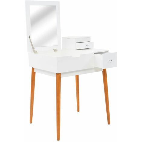 Topdeal Dressing Table with Mirror MDF 60x50x86 cm VDTD11701