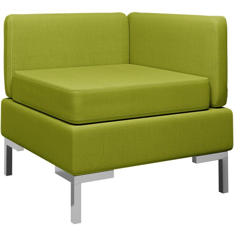 Ecksofa Modular mit Auflage Stoff Grün 37065 - Topdeal