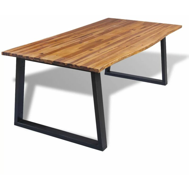 Esstisch Akazienholz Massiv 200 x 90 cm 11635 - Topdeal
