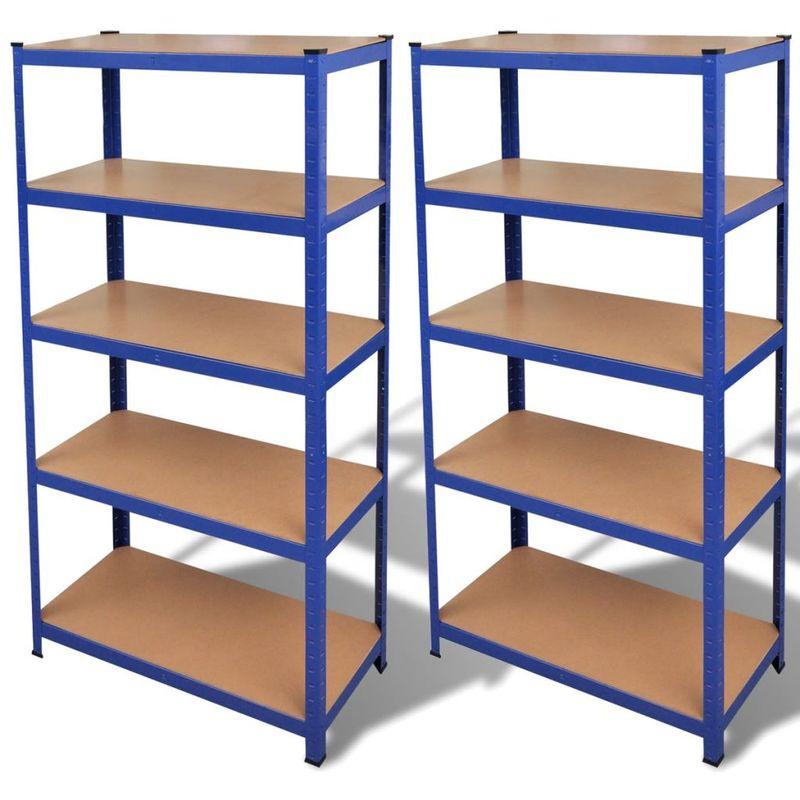 VDTD14968_FR étagère de rangement 2 pcs Bleu - Topdeal