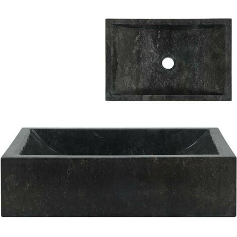 Topdeal évier 45 x 30 x 12 cm Marbre Noir