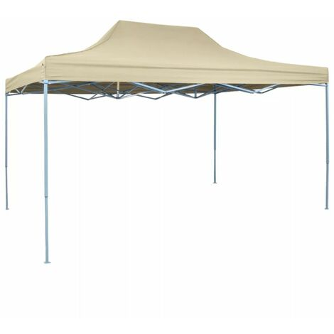 Topdeal Foldable Tent Pop-Up 3x4.5 m Cream White VDTD27058