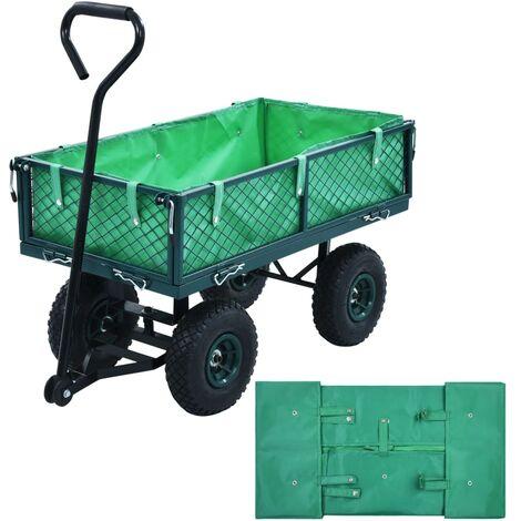 Topdeal Garden Cart Liner Green Fabric VDTD06522
