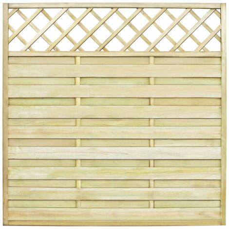 Topdeal Garden Fence Panel with Trellis FSC Wood 180x180 cm VDTD26649