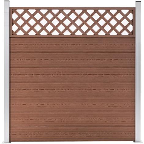 Topdeal Garden Fence WPC 180x185 cm Brown VDTD39957