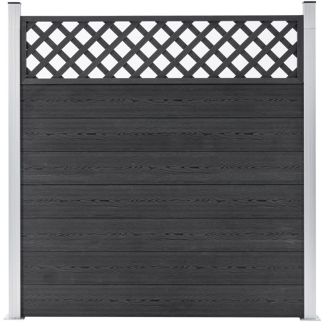 Topdeal Garden Fence WPC 180x185 cm Grey VDTD39962