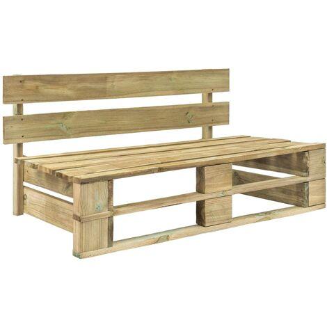 Topdeal Garden Pallet Bench FSC Wood Green VDTD28882