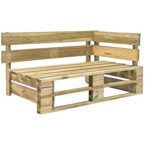 Topdeal Garden Pallet Corner Bench FSC Wood Green VDTD28883