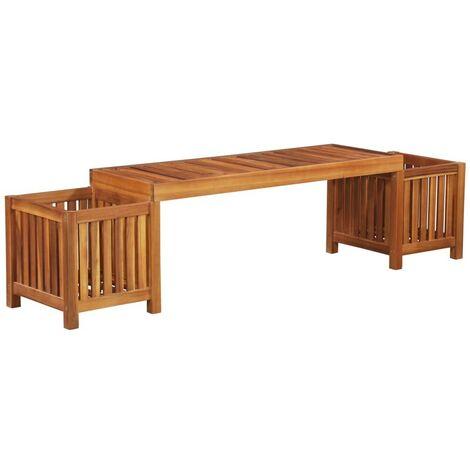 Topdeal Garden Planter Bench Solid Acacia Wood 180x40x44 cm VDTD28327