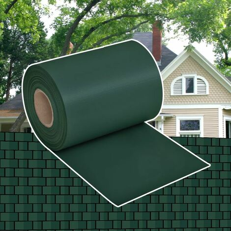 Topdeal Garden Privacy Screen PVC 70x0.19 m Green VDTD26601
