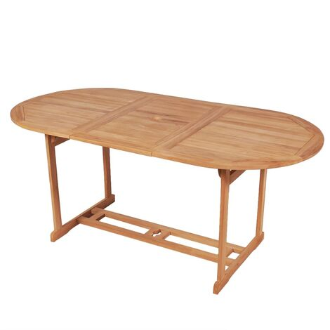 Topdeal Garden Table 180x90x75 cm Solid Teak Wood VDTD27467