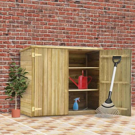 Topdeal Garden Tool Shed 135x60x123 cm Impregnated Pinewood VDTD29995